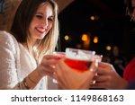 friends having a round of... | Shutterstock . vector #1149868163