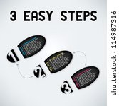 three easy steps | Shutterstock .eps vector #114987316