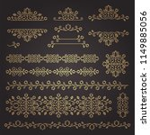 vintage ornaments and dividers. ...   Shutterstock .eps vector #1149885056