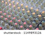 close up audio sound mixer with ... | Shutterstock . vector #1149893126