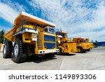 career dump truck on a sunny... | Shutterstock . vector #1149893306