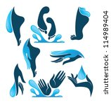 life in water  vector... | Shutterstock .eps vector #114989404