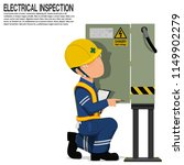 an inspector is inspecting the... | Shutterstock .eps vector #1149902279