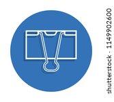 binder clip badge icon. element ...