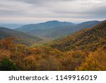 fall color and blue ridge... | Shutterstock . vector #1149916019