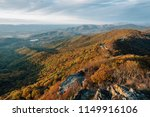 fall color and blue ridge... | Shutterstock . vector #1149916106