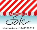 summer sale text with red and... | Shutterstock .eps vector #1149922019
