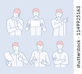various poses and expressions... | Shutterstock .eps vector #1149925163