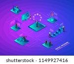 isometric social network... | Shutterstock .eps vector #1149927416