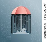 monsoon background with... | Shutterstock .eps vector #1149927929