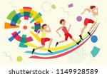 various types of sport... | Shutterstock .eps vector #1149928589