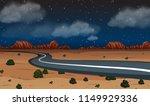 a desert road at night...   Shutterstock .eps vector #1149929336