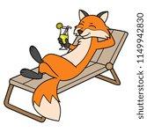 cartoon relaxing fox character   Shutterstock .eps vector #1149942830