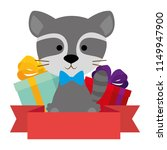 cute and adorable raccoon with... | Shutterstock .eps vector #1149947900