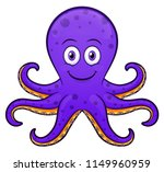 vector illustration of octopus... | Shutterstock .eps vector #1149960959
