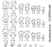 large set of stick figure... | Shutterstock .eps vector #114996160