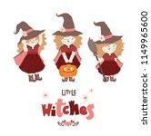 set of cute little witch.... | Shutterstock .eps vector #1149965600