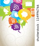 communications and cloud... | Shutterstock .eps vector #114996766
