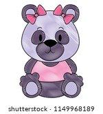 cute and adorable bear teddy... | Shutterstock .eps vector #1149968189