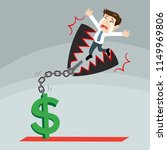 businessman trapped bear trap ... | Shutterstock .eps vector #1149969806