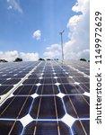solar farms blue sky | Shutterstock . vector #1149972629