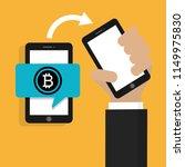 buy bitcoin. online payment... | Shutterstock .eps vector #1149975830