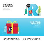 shopping rewards   the new and... | Shutterstock .eps vector #1149979046