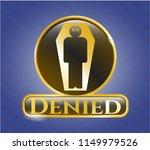 golden badge with dead man in... | Shutterstock .eps vector #1149979526