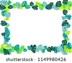 turquoise tropical jungle... | Shutterstock .eps vector #1149980426