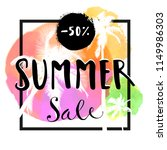 summer sale. 50  discount offer.... | Shutterstock .eps vector #1149986303