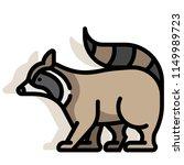 raccoon vector illustration in... | Shutterstock .eps vector #1149989723