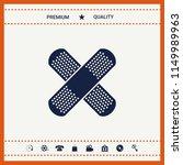 cross adhesive bandage  medical ... | Shutterstock .eps vector #1149989963