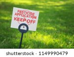 pesticide applicaton sign with... | Shutterstock . vector #1149990479