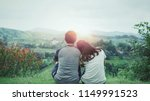 back view of romantic couple in ... | Shutterstock . vector #1149991523