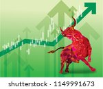 bullish symbols on stock market ... | Shutterstock .eps vector #1149991673