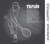 illustration of tennis player... | Shutterstock .eps vector #1149994316