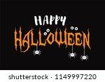 happy halloween vector text... | Shutterstock .eps vector #1149997220