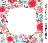 under the sea life square frame ... | Shutterstock .eps vector #1149997529