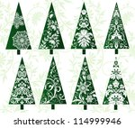 set of decorative christmas... | Shutterstock .eps vector #114999946