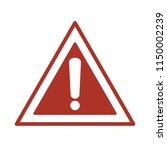 hazard warning mark. danger... | Shutterstock .eps vector #1150002239