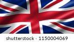 united kingdom national waving... | Shutterstock . vector #1150004069