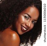 beauty portrait of african... | Shutterstock . vector #1150006010