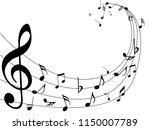 music notes black abstract... | Shutterstock .eps vector #1150007789