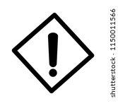 hazard warning mark. danger... | Shutterstock .eps vector #1150011566