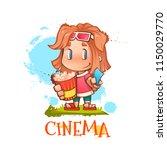 vector illustration of cute... | Shutterstock .eps vector #1150029770