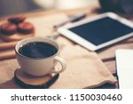 laptop computer  phone and... | Shutterstock . vector #1150030460