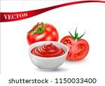 a vector image of a tomato...   Shutterstock .eps vector #1150033400