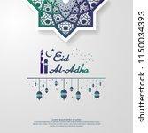 eid al adha or fitr mubarak... | Shutterstock .eps vector #1150034393
