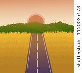 horizon landscape background.... | Shutterstock .eps vector #1150035173