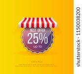 vivid vector of round sticker... | Shutterstock .eps vector #1150038200